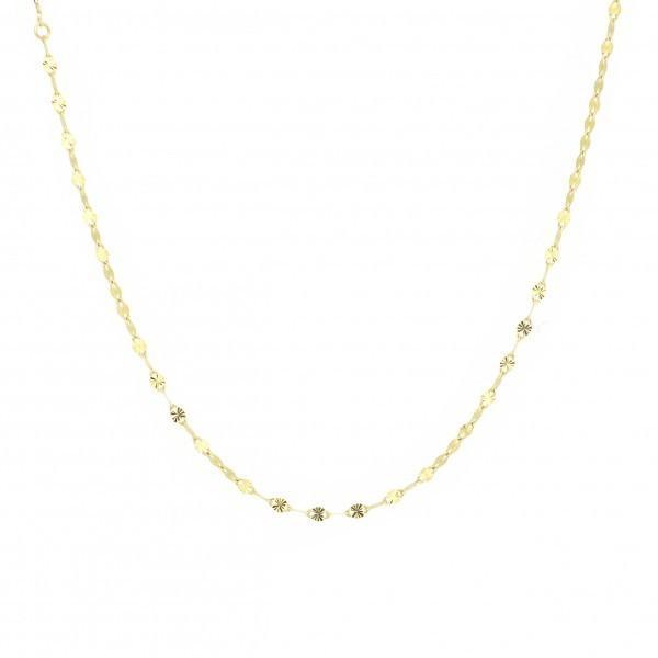 エクレアチェーンゴールドネックレスデザインチェーン18金イエローゴールドジュエリーネックレス首飾り