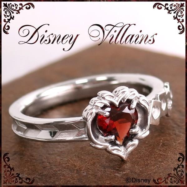 ディズニー 指輪 ヴィランズ ふしぎの国のアリス ハートの女王 シルバーリング 7-15号 Disney disney