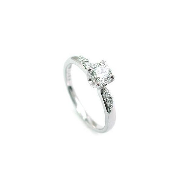 鑑定書付き 婚約指輪 エンゲージリング ダイヤモンド プラチナ リング