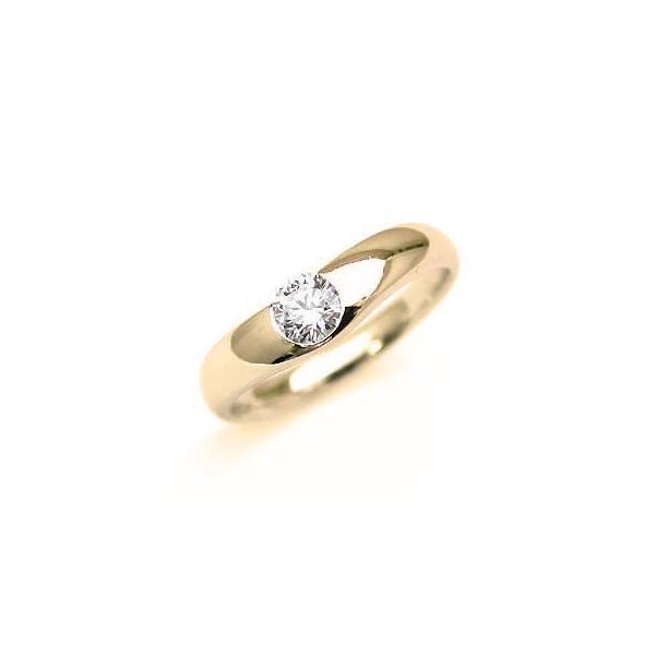 婚約指輪 エンゲージリング ダイヤ ダイヤモンド K18YG  リング