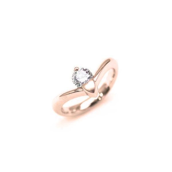 婚約指輪 エンゲージリング ダイヤ ダイヤモンド K18PG  リング