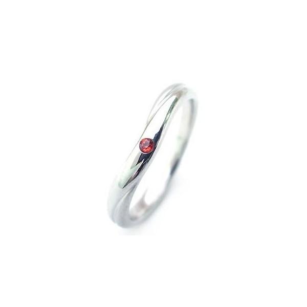 結婚指輪 マリッジリング ペアリング1月誕生石  ガーネット