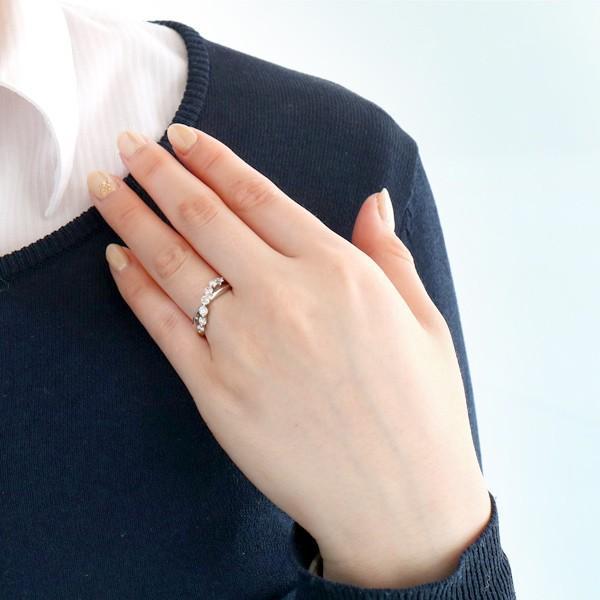 プラチナ ダイヤモンド リング 指輪 0.5カラット シンプル セブンスター