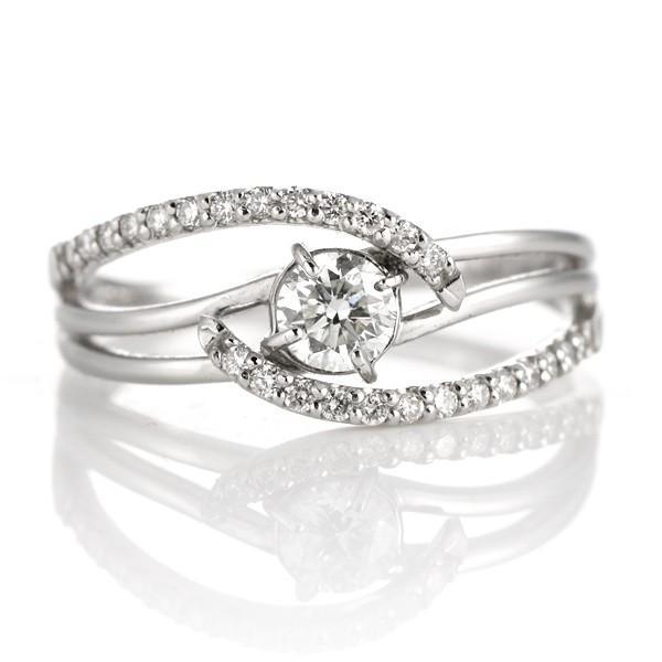 プラチナ ダイヤモンド エタニティ フラワー リング 指輪 カラット スイートエタニティ