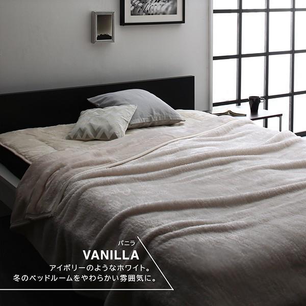 プレミアムマイクロファイバー毛布・敷パッド 敷きパッド セミダブル|alla-moda|05