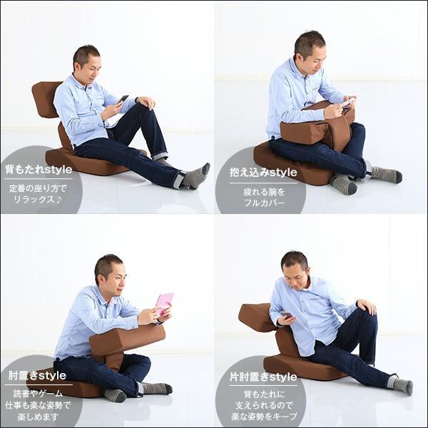 ゲーム座椅子 ゲーム 待望の本格 布地 6段階のリクライニング alla-moda 04