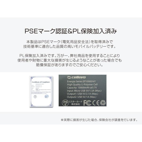 【送料無料】 モバイルバッテリー 大容量 10000mah USB-A 急速充電 iPhone iPad Android 安全 アルミ スマホ タブレット PSE おすすめ cellevo セレボ EP10000F allbuy 08