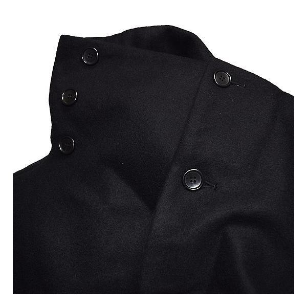 ドレープコート メンズ チェスターコート  ボリュームネック 送料無料 変形 ネックコート オリジナル ブランド 個性的 ホスト V系 ビジュアル系 モード系|alleglo0921|10