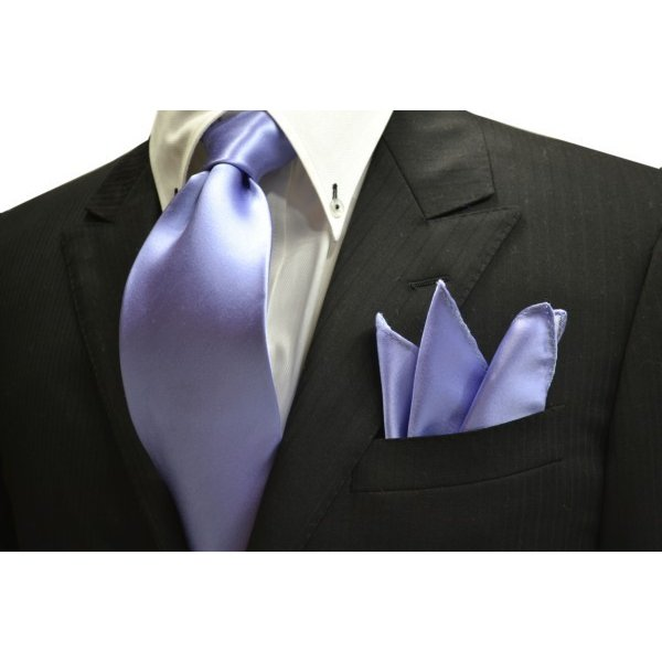 無地(シルクサテン)/濃い水色(ラベンダーかかった)のポケットチーフ(チーフ23cm) / PC-AP011|allety-y|04