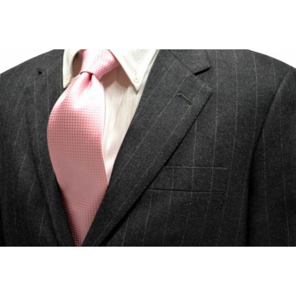 濃いピンク色のバスケット織ネクタイ / MUT-B005|allety-y