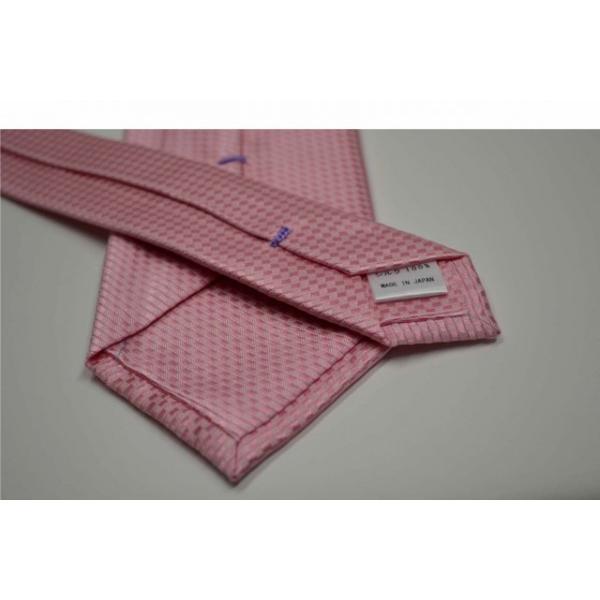 濃いピンク色のバスケット織ネクタイ / MUT-B005|allety-y|03