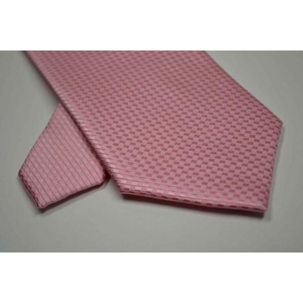濃いピンク色のバスケット織ネクタイ / MUT-B005|allety-y|04