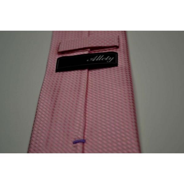 濃いピンク色のバスケット織ネクタイ / MUT-B005|allety-y|05