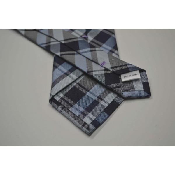 紺、ブルーのヤスラ織りストライプネクタイ / STN-19S007|allety-y|03