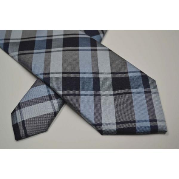 紺、ブルーのヤスラ織りストライプネクタイ / STN-19S007|allety-y|04