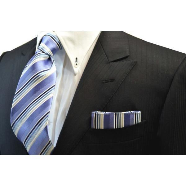 水色地に紺とブルーのグラデーションのポケットチーフ(チーフ23cm) / 20%OFF/PCN-SW13028|allety-y|02