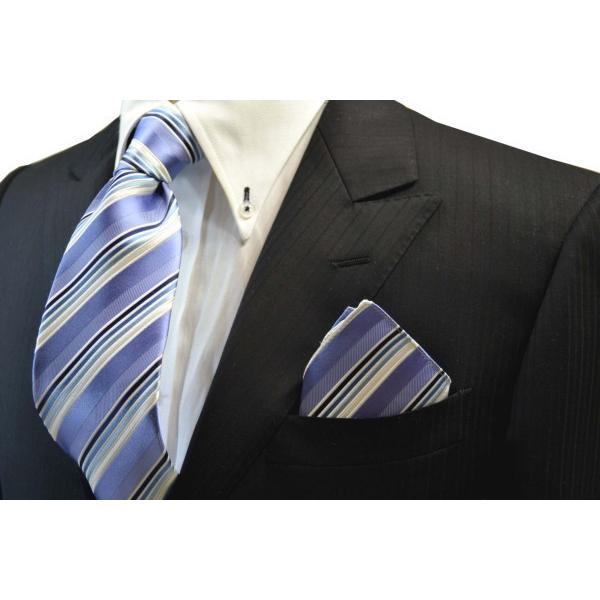 水色地に紺とブルーのグラデーションのポケットチーフ(チーフ23cm) / 20%OFF/PCN-SW13028|allety-y|03