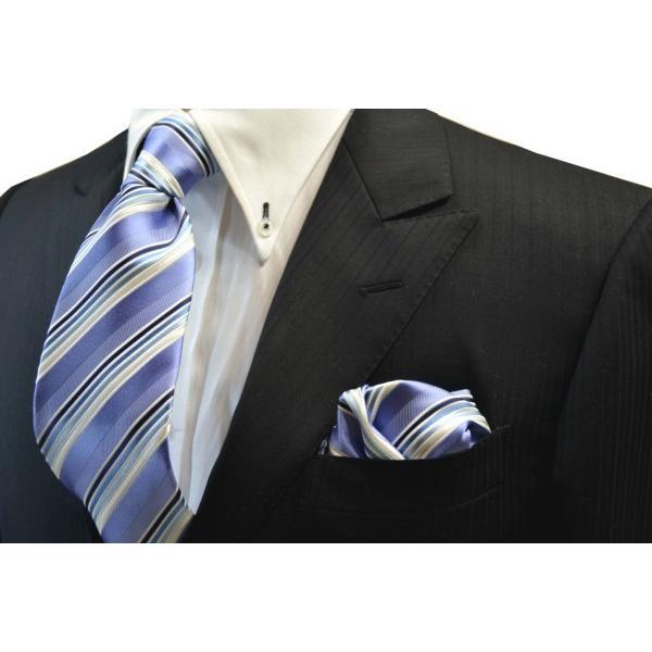 水色地に紺とブルーのグラデーションのポケットチーフ(チーフ23cm) / 20%OFF/PCN-SW13028|allety-y|05