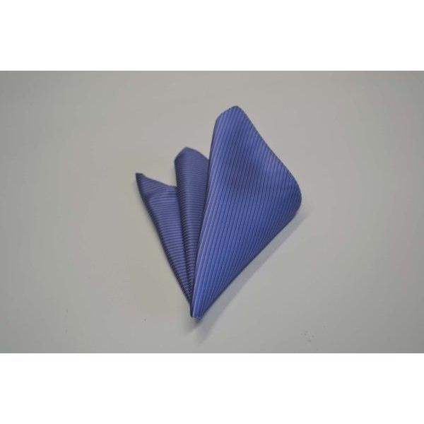 無地(縦ライン)/濃い水色(ラベンダーがかかっています)のソリッド(無地)ネクタイ&チーフセット(チーフ23cm) / CS-SO011|allety|04