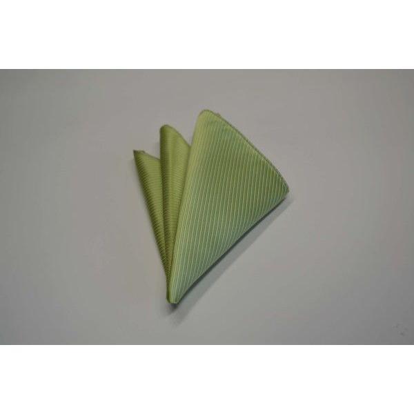 無地(縦ライン)/アップルグリーン(薄い黄緑)のソリッド・ネクタイ&チーフセット(チーフ30cm) / CS-SO013|allety|04