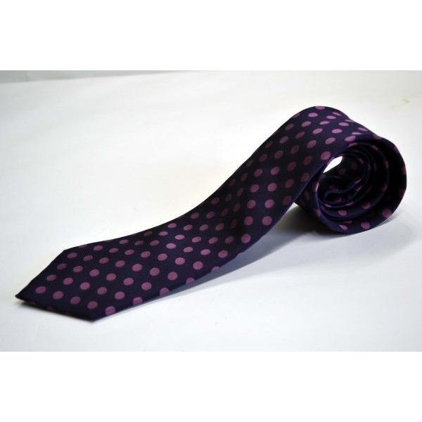 濃い紫地に濃いピンクのドット8mm(水玉)ネクタイ / MZN-008|allety|02