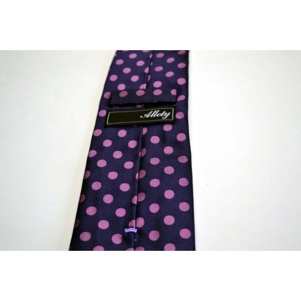 濃い紫地に濃いピンクのドット8mm(水玉)ネクタイ / MZN-008|allety|05