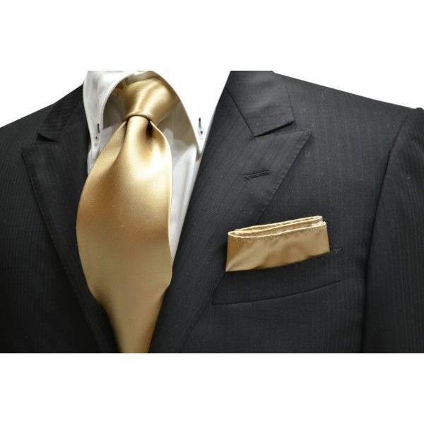 無地(シルクサテン)/シャンパーンゴールドのポケットチーフ(チーフ23cm) / 結婚式・披露宴・フォーマル・礼装/PC-AP004 allety 02