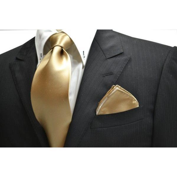 無地(シルクサテン)/シャンパーンゴールドのポケットチーフ(チーフ23cm) / 結婚式・披露宴・フォーマル・礼装/PC-AP004 allety 03