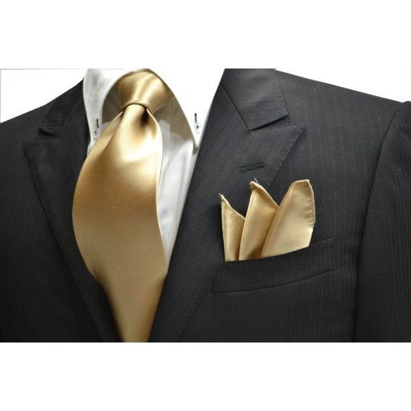 無地(シルクサテン)/シャンパーンゴールドのポケットチーフ(チーフ23cm) / 結婚式・披露宴・フォーマル・礼装/PC-AP004 allety 04