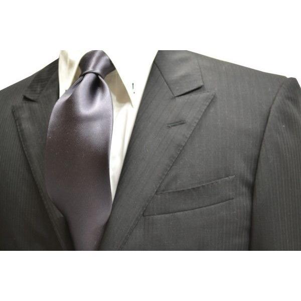 無地(シルクサテン)/濃いグレーのネクタイ / AP-005 allety