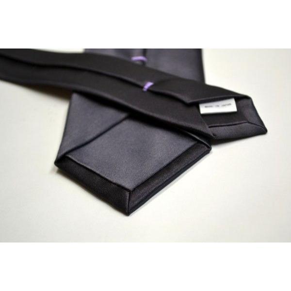 無地(シルクサテン)/濃いグレーのネクタイ / AP-005|allety|03