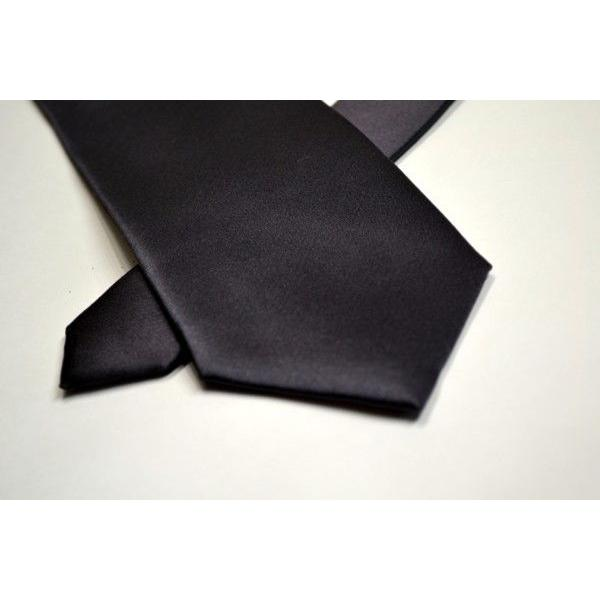 無地(シルクサテン)/濃いグレーのネクタイ / AP-005 allety 04