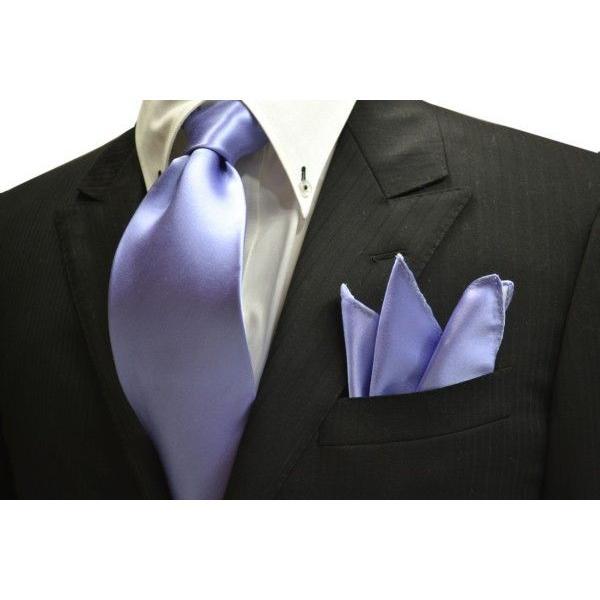 無地(シルクサテン)/濃い水色(ラベンダーかかった)のポケットチーフ(チーフ23cm) / PC-AP011|allety|04