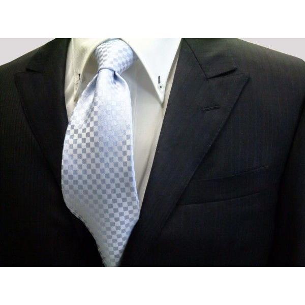 水色市松模様ネクタイ / 結婚式・披露宴・フォーマル・礼装/IT002|allety