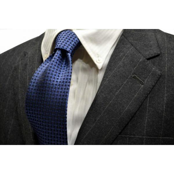 ブルーの濃淡・小紋ネクタイ  / KMN-19W009|allety