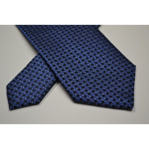 ブルーの濃淡・小紋ネクタイ  / KMN-19W009|allety|04