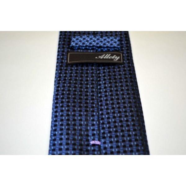 ブルーの濃淡・小紋ネクタイ  / KMN-19W009|allety|05