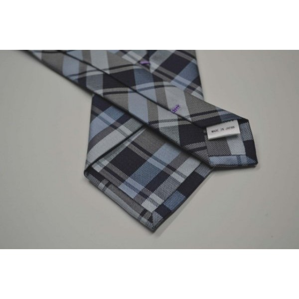 紺、ブルーのヤスラ織りストライプネクタイ / STN-19S007|allety|03