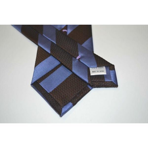 ブラウン、ブルーの(組織変化)ストライプネクタイ  / STN-19S019 allety 03