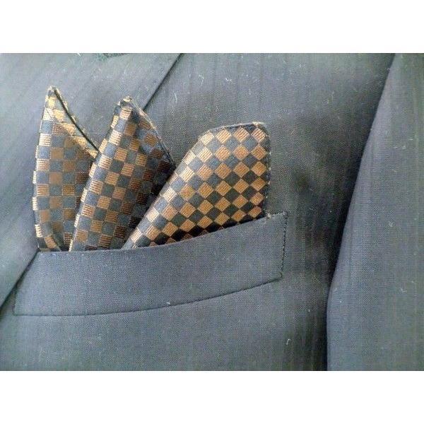 ブラゥン(茶)×ブラック市松模様ネクタイ&ポケットチーフセット(チーフ30cm) / CS-IT007|allety|05