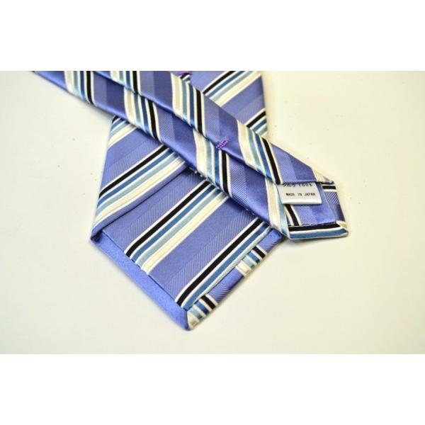 水色地に紺とブルーのグラデーションネクタイ&チーフセット(チーフ23cm) / CSN-W13028|allety|03