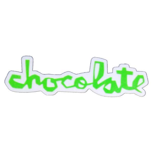 """チョコレート CHOCOLATE/CHUNK STICKER 6"""" (GREEN) ステッカー"""