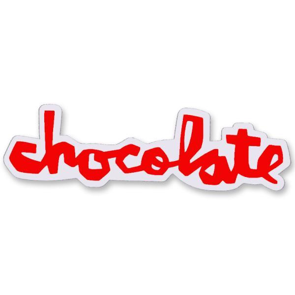 """チョコレート CHOCOLATE/CHUNK STICKER 6"""" (RED) ステッカー"""