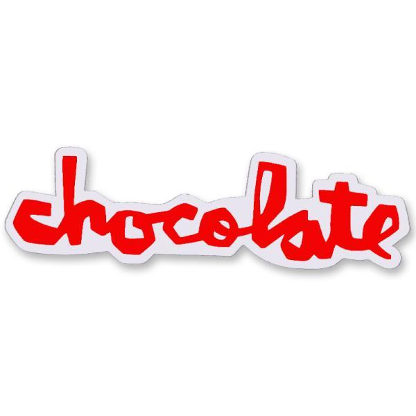 """チョコレート CHOCOLATE/CHUNK STICKER 3"""" (RED) ステッカー"""