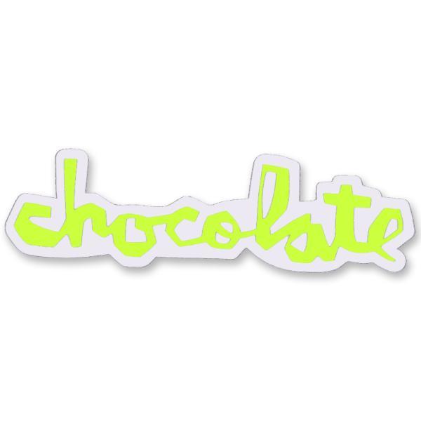 """チョコレート CHOCOLATE/CHUNK STICKER 6"""" (NEON YELLOW) ステッカー"""