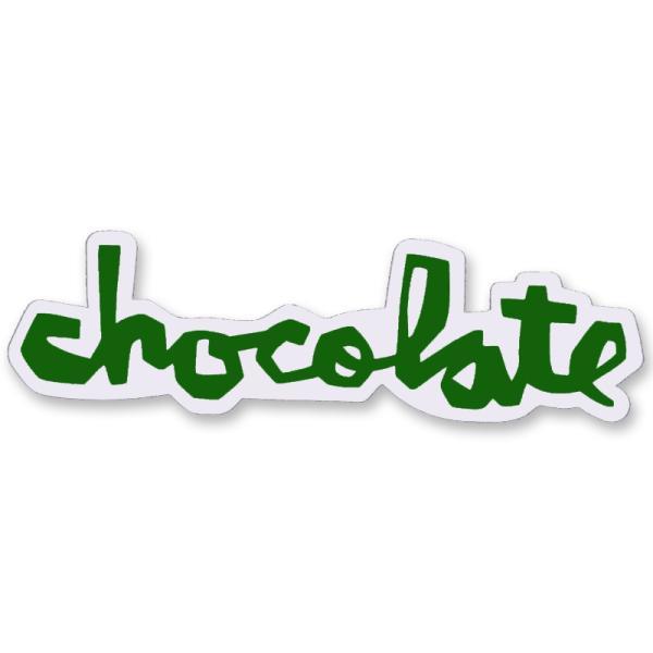 """チョコレート CHOCOLATE/CHUNK STICKER 3"""" (GREEN) ステッカー"""