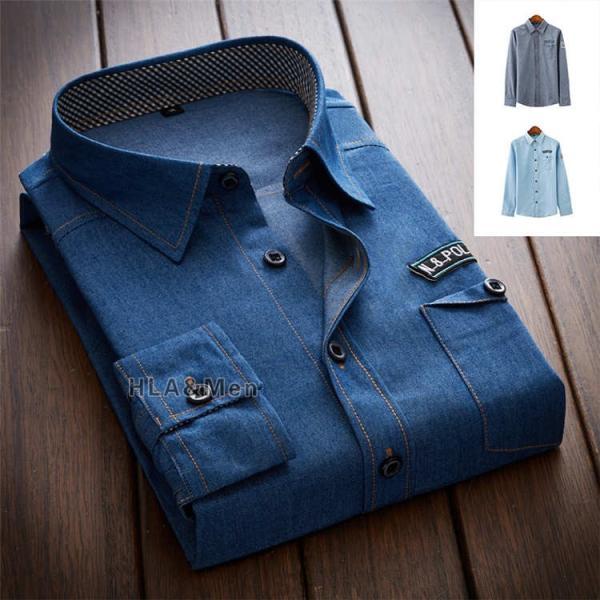 カジュアルシャツ デニム シャツ メンズ 長袖シャツ デニムシャツ ダンガリーシャツ トップス 新作 allforever