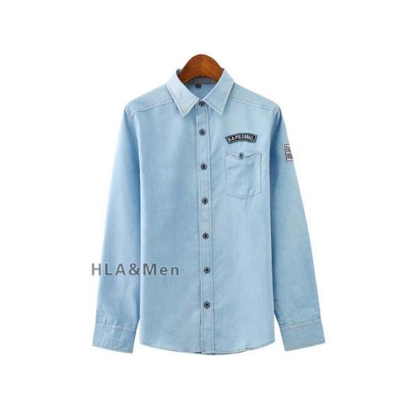 カジュアルシャツ デニム シャツ メンズ 長袖シャツ デニムシャツ ダンガリーシャツ トップス 新作 allforever 11
