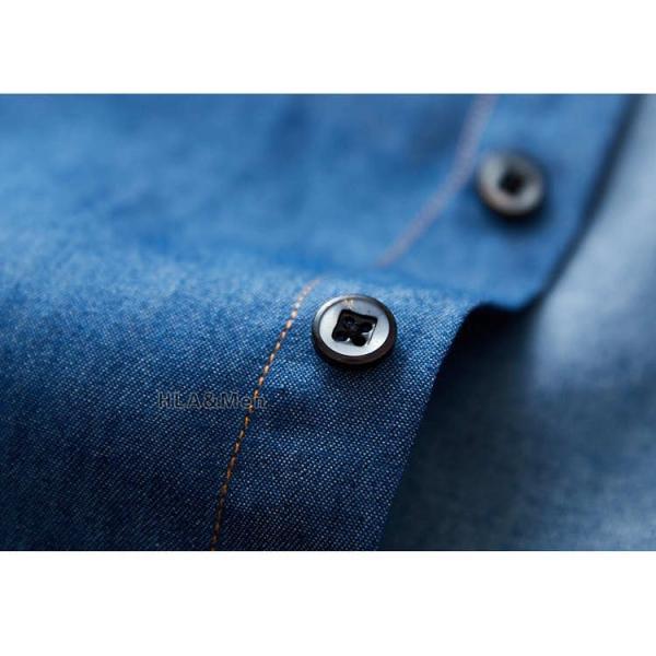 カジュアルシャツ デニム シャツ メンズ 長袖シャツ デニムシャツ ダンガリーシャツ トップス 新作 allforever 17