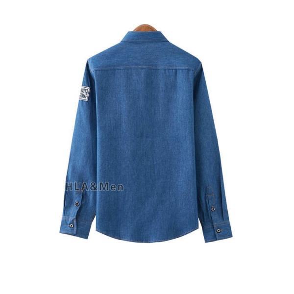 カジュアルシャツ デニム シャツ メンズ 長袖シャツ デニムシャツ ダンガリーシャツ トップス 新作 allforever 10